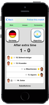 Football Live Scores for iPhone and iPad